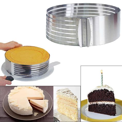 cake ring cake slicer 4yang stainless steel diy adjustable retractable circular
