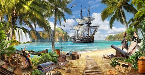 island treasure affresco landscapes factory landscape frescoes murals