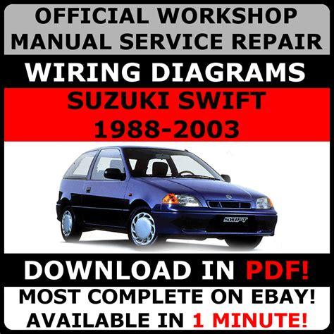 how to download repair manuals 1988 suzuki swift parking system official workshop service repair manual suzuki swift 1988 2003 wiring daigram ebay