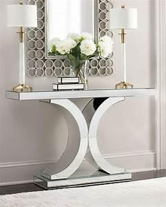 Mirrored Foyer Table Silver — STABBEDINBACK Foyer