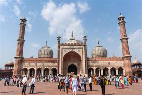 jama masjid mosque  delhi india stock photo image