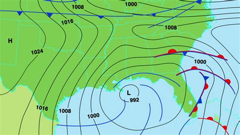 animated weather forecast map of south east united states