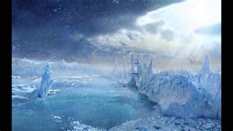 Land R Wallpaper by Arvenas Frozen Fjords