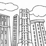 Coloring Building Pages Apartment Tall Printable Blocks Sheets Colouring Skyscraper Template Skyscrapers Templates Comic Print Sketches Books sketch template