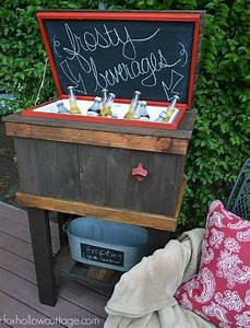 How To Build A Wood Deck Cooler - Fox Hollow Cottage