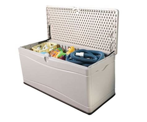 Lifetime 130 Gallon Deck Box Assembly by Plastic Garden Shed Storage Box