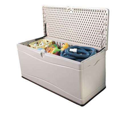 lifetime 130 gallon deck box assembly plastic garden shed storage box