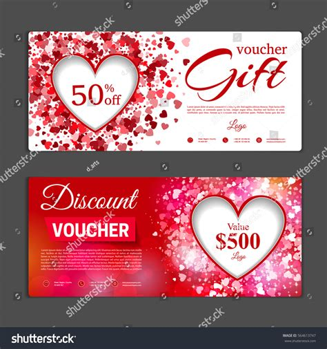 Gift Voucher Template Can Be Use 스톡 벡터 564613747