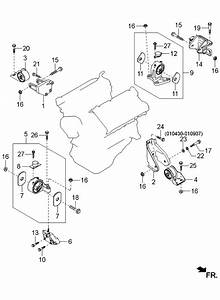 2003 Kia Sedona Engine  U0026 Transmission Mounting