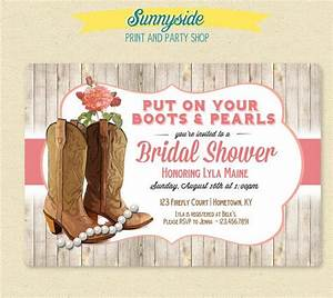 boots pearls invitation country cowgirl bridal With country girl wedding invitations