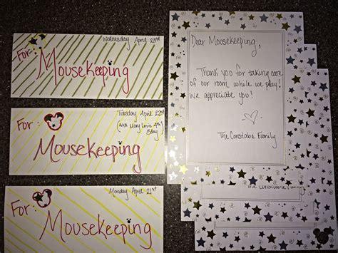 mousekeeping housekeeping envelopes   daily tip