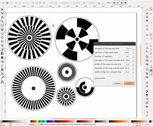inkscape extension for creating optical rotary encoder With rotary encoders