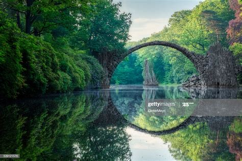 arch bridge  kromlau high res stock photo getty images