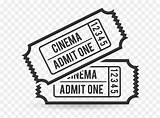 Admit Ticket Movie Coloring Clipart Vhv sketch template