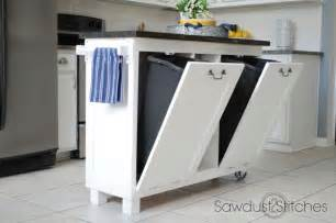 diy kitchen island cart garbage can hacks how to organize your garbage
