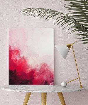 acryl stifte für leinwand aquarell druck rote abstrakte kunst leinwand kunstdruck wandkunst aquarellmalerei