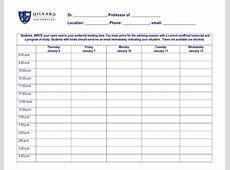 Dillard University Template Advising Appointment Request