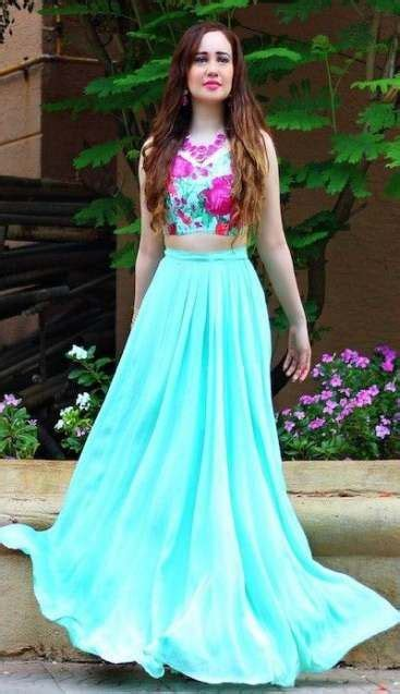 30 Ideas Skirt And Crop Top Indian India   Party outfits ...