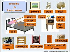 Bedroom vocabulary learning the words for inside a bedroom