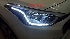 Hyundai I20 Elite Custom Headlights  Drl  Daytime Running