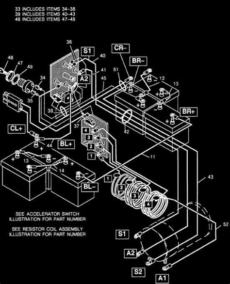 wiring diagram for 1983 93 ezgo resistor cart to
