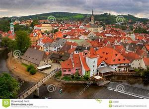 View Of The Old Bohemian City Stock Image - Image: 3338237