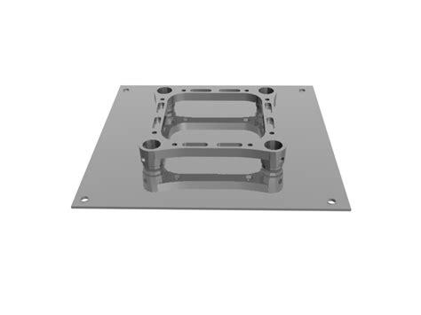 Tralicci In Alluminio by Piastra Base A Terra Bama Tralicci In Alluminio