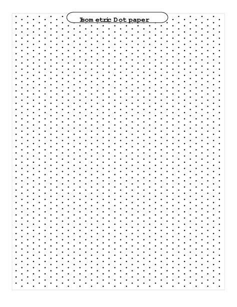 Printable Isometric Dot Grid Paper