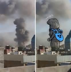yemen smoke explosion powerful yemeni drawing war into turn artists yourmiddleeast missile child awesomeinventions