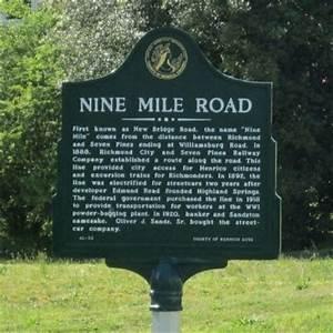 Nine Mile Road Historical Marker