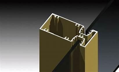 Framing Mullions Glazed Mullion Aluminium Drainage Commercial