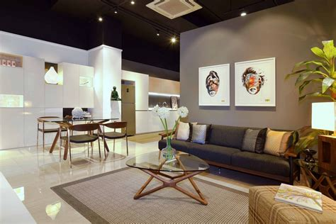 Residential Interior Showroom Evoking An Urban Feel