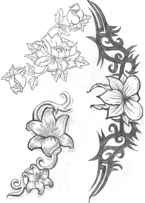 Tribal Hawaiian Flower Tattoo Images Pictures - Becuo