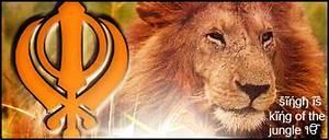Khanda Lion sig by KingS1ngh on DeviantArt