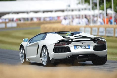 lamborghini aventador s roadster back lamborghini aventador roadster rear 2013 goodwood festival of speed