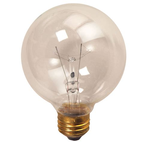 globe light bulbs 3 quot clear medium base decorative globe light bulb 25 watt