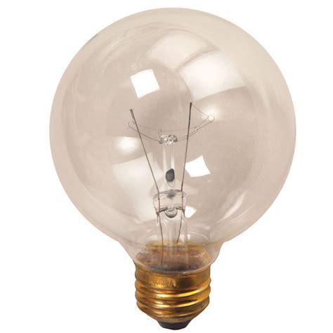 "3"" Clear Medium Base Decorative Globe Light Bulb  25 Watt"