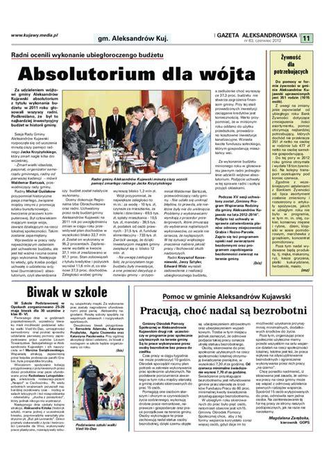 Gazeta Aleksandrowska nr 63 (2012) by Wydawnictwo Kujawy ...