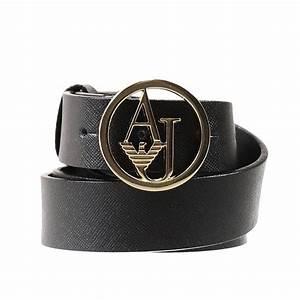Armani jeans Belt Saffiano Metal Logo Buckle in Black | Lyst