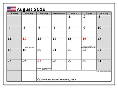 august calendar usa michel zbinden en