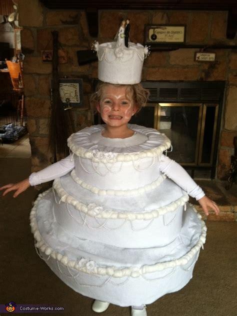 homemade wedding cake costume  girls diy costumes