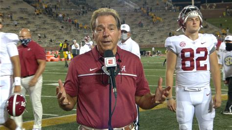 Saban displeased with Bama's second-half intensity