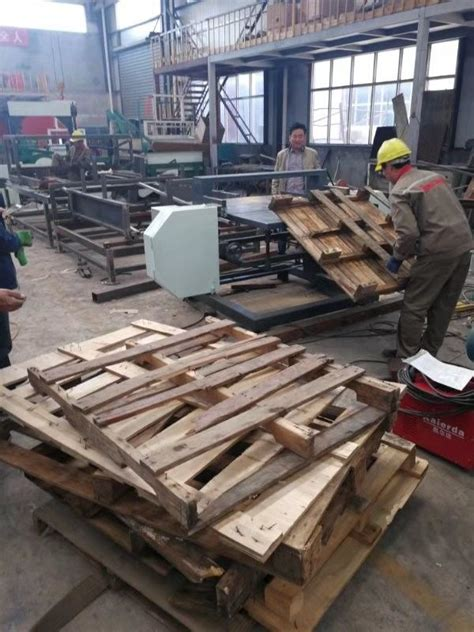 pallet dismantling machine wood band  portable