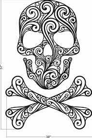 Best Sugar Skull Stencil - ideas and images on Bing | Find what you ...