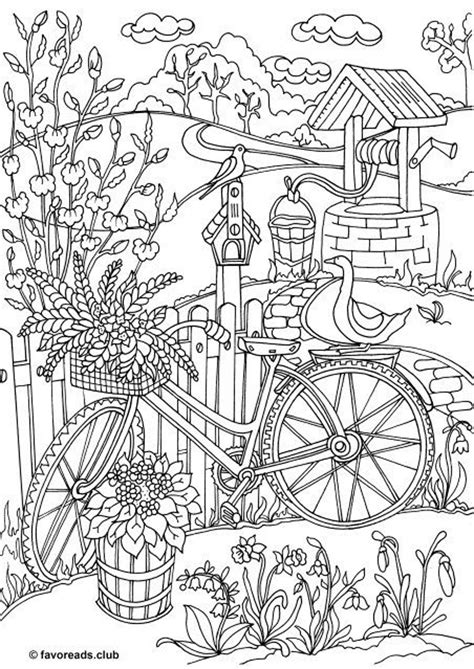 spring coloring pages printable  adults beautiful spring garden