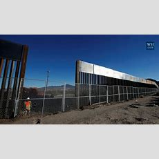 Trump's Budget Director Unveils Photos Of What The Border Wall May Look Like Youtube