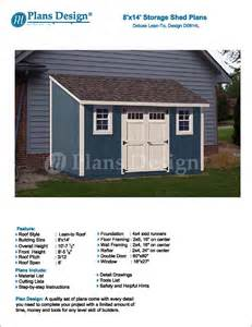 8 x 14 backyard deluxe storage shed plans lean to roof