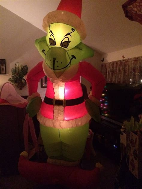 gemmy airblown inflatable blow  grinch christmas yard