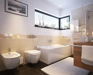 Moderne Badezimmer Mit Fliesen Und Fenster