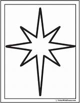 Star Coloring Christmas Pages Stars Outline Printable Pdf Simple Shape Colorwithfuzzy sketch template